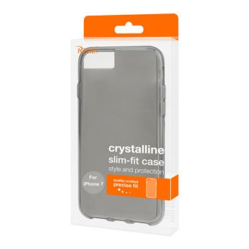 Reiko iPhone 7/8/SE2 Transparent TPU Hard Protector Cover With Inner Extra Bumper In Clear Gray BUMTPU02-IPHONE7CLGY