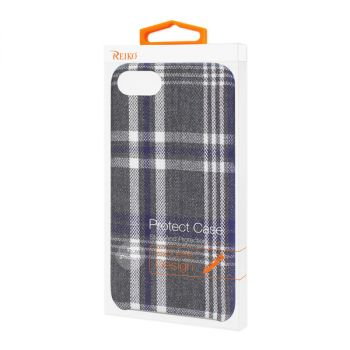 Reiko iPhone 7/8/SE2 Checked Fabric Case In Black DF02-IPHONE8BK