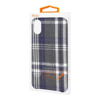 Reiko iPhone X/iPhone XS Checked Fabric Case In Black DF02-IPHONEXBK