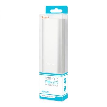 REIKO 2A5V 4800MAH UNIVERSAL POWER BANK WITH MICRO CABLE IN SILVER PB4800-SL