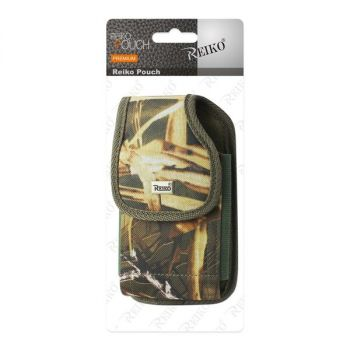 Reiko Vertical Rugged Pouch With Metal Belt Clip In Camouflage (6.4X3.5X0.7 Inches) PH02B-643507AM32
