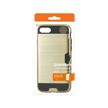 Reiko iPhone 7/8/SE2 SLIM ARMOR HYBRID CASE WITH CARD HOLDER IN GOLD SPWC01-IPHONE7GD