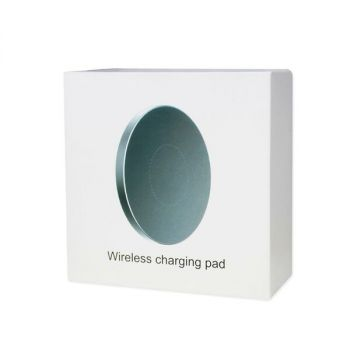 REIKO DUAL COLOR WIRELESS CHARGING QI PAD IN BLACK WCP02-BK