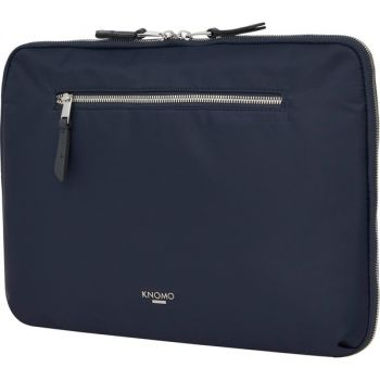 Knomo Mayfair Carrying Case for 13 Notebook - Dark Navy - Water Resistant - Nylon, Full Grain Leather Trim, Fabric - 10.6 Height x 14.8 Width x 2.4 Depth