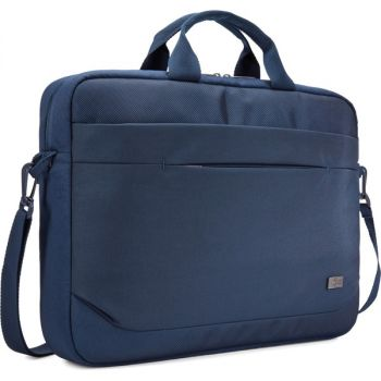 Case Logic Advantage Carrying Case (Attaché) for 15.6 Notebook, Tablet PC, Portable Electronics, Pen - Dark Blue - Shoulder Strap - 13.8 Height x 2.8 Width x 16.1 Depth