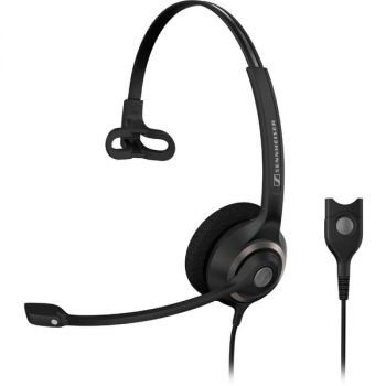 EPOS | SENNHEISER Circle SC 230 Headset - Mono - Easy Disconnect - Wired - 200 Ohm - 150 Hz - 6.80 kHz - Over-the-head - Monaural - Supra-aural - 3.30 ft Cable - Noise Cancelling Microphone - Black, Silver