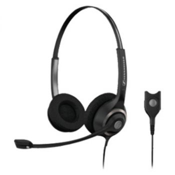 EPOS | SENNHEISER SC 260 Headset - Stereo - Wired - 180 Ohm - 150 Hz - 6.80 kHz - Over-the-head - Binaural - Semi-open - 3.28 ft Cable - Noise Cancelling Microphone - Black, Silver