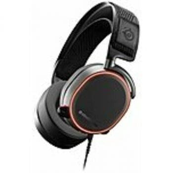 SteelSeries 61454 Arctis Pro Headset - Stereo - Mini-phone (3.5mm), USB - Wired - 32 Ohm - 10 Hz - 40 kHz - Over-the-head - Binaural - Circumaural - Noise Cancelling, Bi-directional Microphone - Black, White