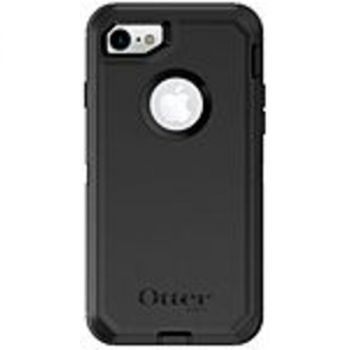 OtterBox 77-54088 Defender Carrying Case (Holster) Apple iPhone 7, iPhone 8, iPhone SE 2 Smartphone - Black - Dirt Resistant Port, Dust Resistant Port, Lint Resistant Port - Silicone Cover, Polycarbonate, Synthetic Rubber - Belt Clip - 6.2 Height x 3.4