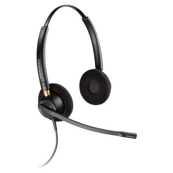 Plantronics Over-the-head Binaural Corded Headset - Stereo - Wired - Over-the-head - Binaural - Supra-aural - Noise Cancelling Microphone