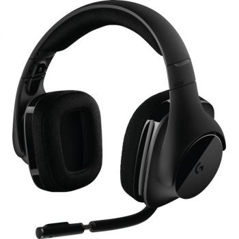 Logitech G533 Wireless Dts 7.1 Surround Gaming Headset - Stereo - Wireless - 49.2 ft - Over-the-head - Binaural - Circumaural - Black