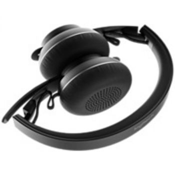 Logitech Zone Wireless Headset - Stereo - Wireless - Bluetooth - 98.4 ft - 30 Hz - 13 kHz - Over-the-head - Binaural - Omni-directional, MEMS Technology, Electret, Condenser Microphone - Noise Canceling - Black
