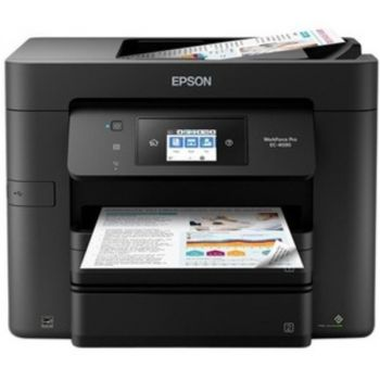Epson WorkForce Pro EC-4030 Inkjet Multifunction Printer - Color - Copier/Fax/Printer/Scanner - 4800 x 1200 dpi Print - Automatic Duplex Print - 1200 dpi Optical Scan - 500 sheets Input - Fast Ethernet - Wireless LAN - Apple AirPrint
