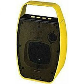 NXG Technology NX-WRLSM-YELLOW Wireless Bluetooth Speaker - Weather Resistant -Yellow