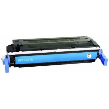 Compatible HP 644A Toner Cartridge - Single Pack - Laser - 12000 Pages Color - Cyan - 1 Each