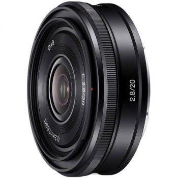 Sony SEL20F28 - 20 mm - f/16 - Wide Angle Fixed Lens for E-mount - 49 mm Attachment - 0.12x Magnification - 2.5Diameter