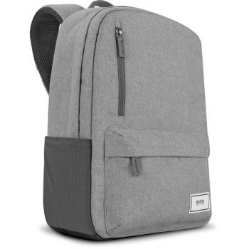Solo Re:cover Carrying Case (Backpack) for 15.6 Notebook - Gray - Bump Resistant, Damage Resistant - Mesh Pocket - Shoulder Strap, Luggage Strap, Handle - 14.8 Height x 11.3 Width x 7 Depth