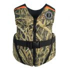 Mustang Rev Youth Foam Vest - 55-88lbs - Mossy Oak/Shadow Grass Blades