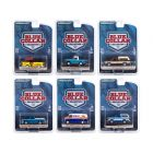 Blue Collar Collection Set of 6 pieces Series 8 1/64 Diecast Model Cars by Greenlight 35180SET