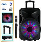 beFree Sound 12 Inch 2500 Watt Bluetooth Rechargeable Portable Party PA Speaker with Illuminating Lights
